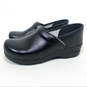 Dansko Black Leather Clogs Size 40
